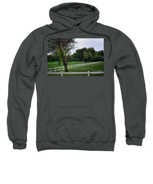 Fence On The Wooded Green Sweatshirt