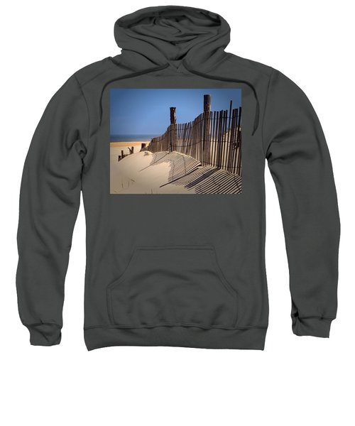 Fenwick Dune Fence And Shadows Sweatshirt
