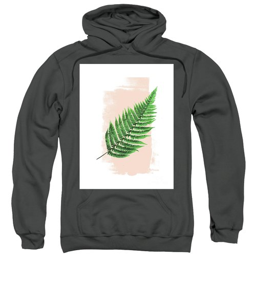 Fern Leaf On Pink Sweatshirt