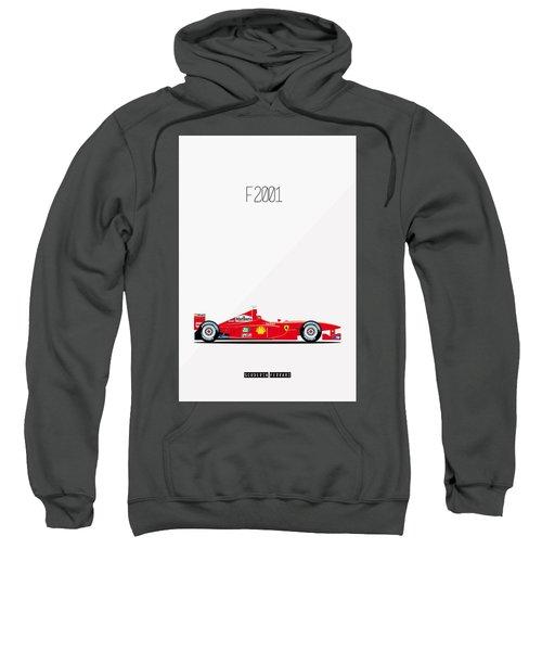 Ferrari F2001 F1 Poster Sweatshirt
