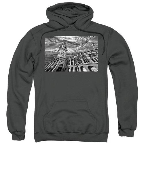 Ferry Building Black  White Sweatshirt