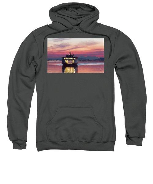 Ferry Issaquah Docking At Dawn Sweatshirt