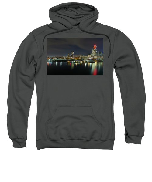 Ferry Terminal In Vancouver Bc At Night Sweatshirt