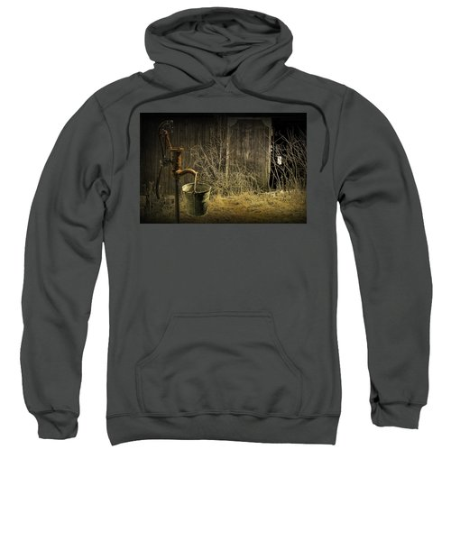 Fetching Water From The Old Pump Sweatshirt