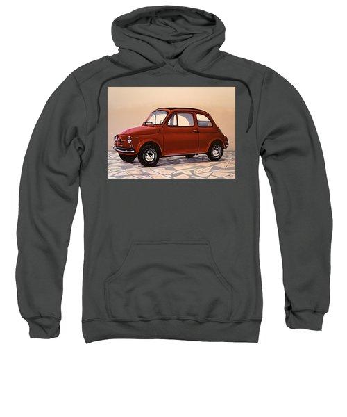 Fiat 500 1957 Painting Sweatshirt