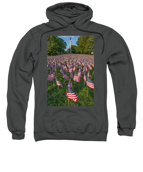 Field Of Flags At Boston's Soldiers And Sailors Monument Sweatshirt