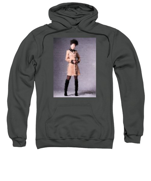 Sweatshirt featuring the digital art Fiona by Nancy Levan