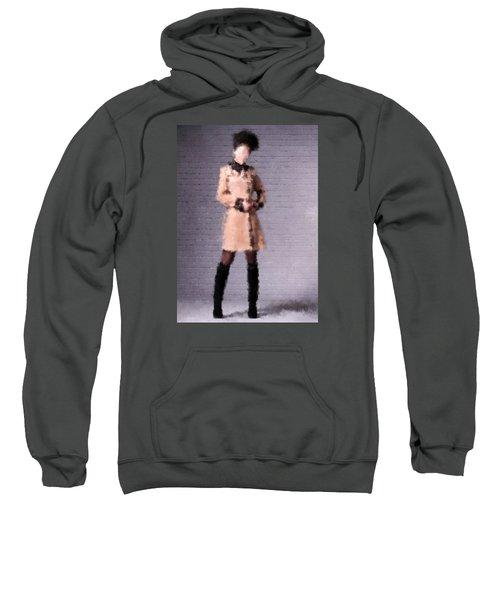 Sweatshirt featuring the digital art Fiona by Nancy Levan