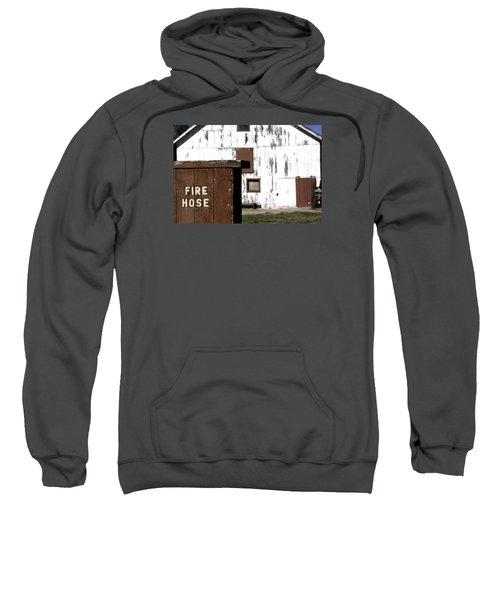 Sweatshirt featuring the photograph Fire Hose by Lora Lee Chapman