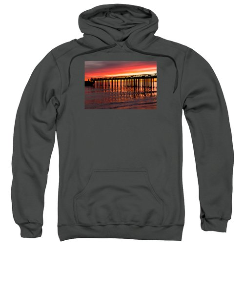 Sweatshirt featuring the photograph Fire In The Sky by Lora Lee Chapman