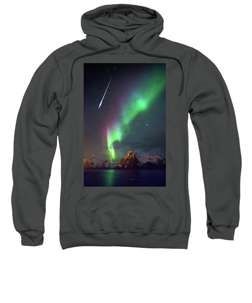 Fireball In The Aurora Sweatshirt