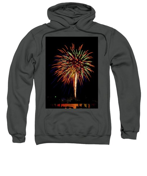 Sweatshirt featuring the photograph Fireworks by Bill Barber