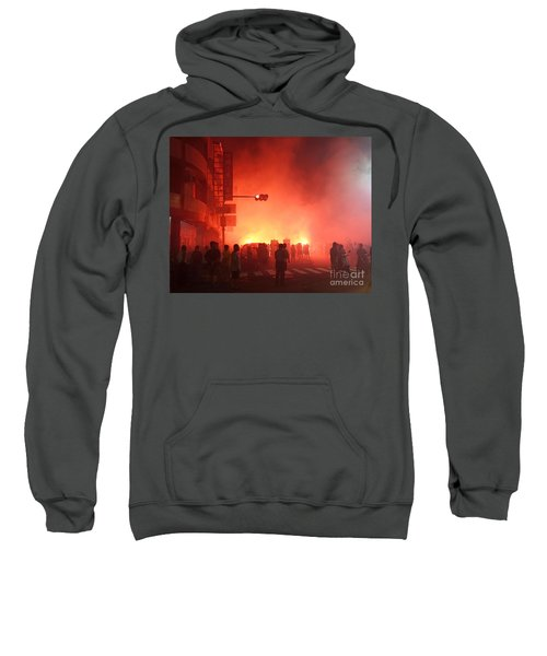 Fireworks During A Temple Procession Sweatshirt
