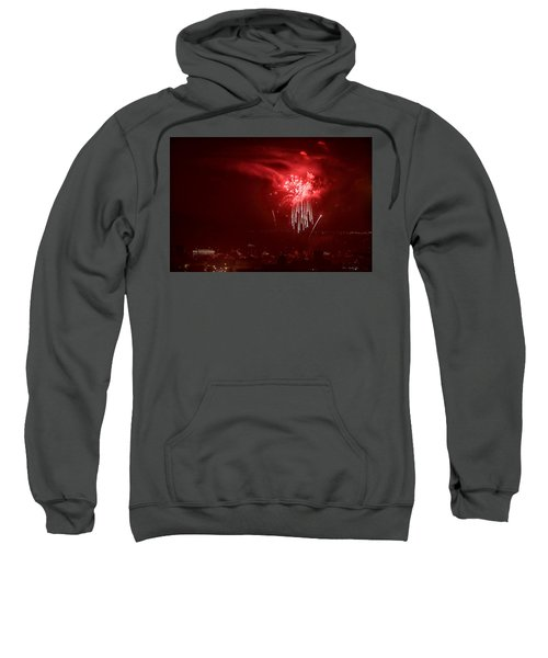 Fireworks In Red And White Sweatshirt