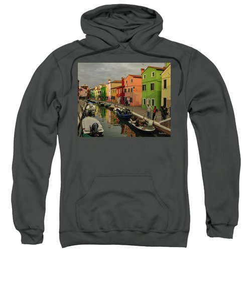 Fisherman At Work In Colorful Burano Sweatshirt