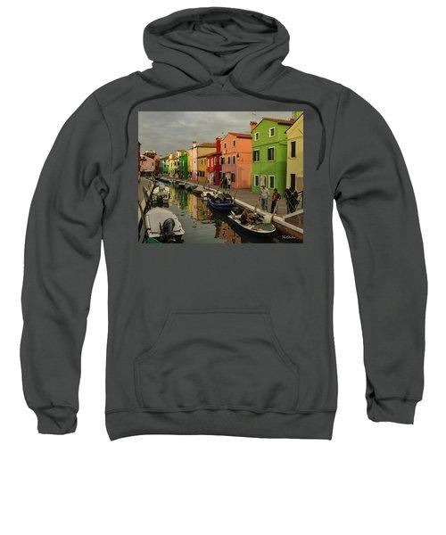 Fisherman At Work In Colorful Burano Sweatshirt