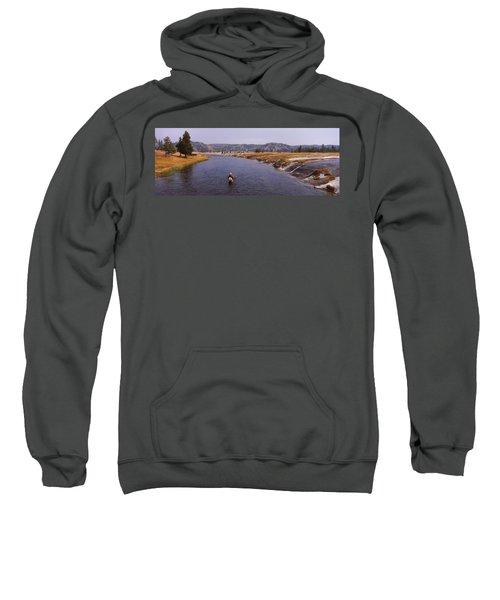 Fisherman Fishing In A River, Firehole Sweatshirt