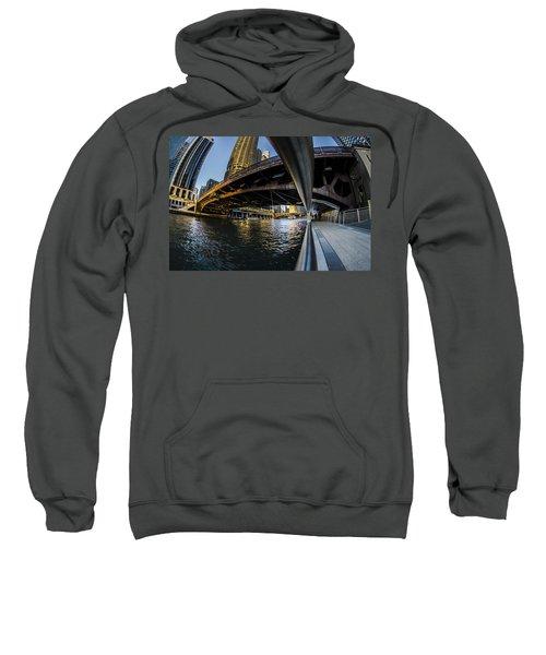 Fisheye View From The Chicago Riverwalk Sweatshirt
