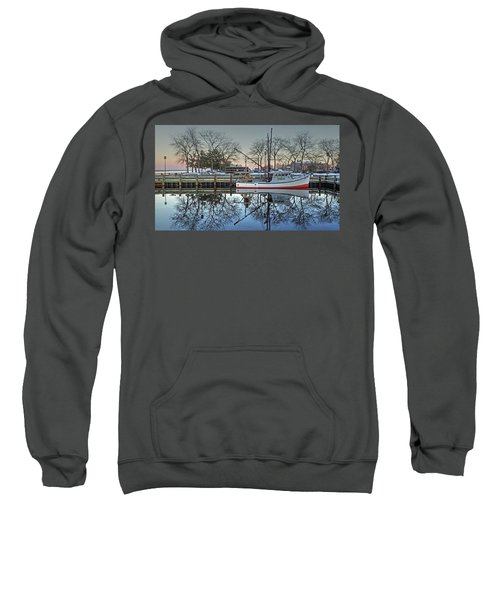 Fishing Boat At Newburyport Sweatshirt