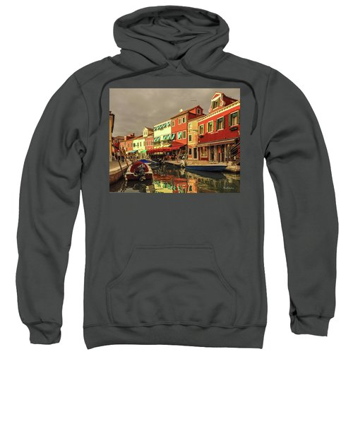 Fishing Boats In Colorful Burano Sweatshirt