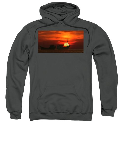 Fishing Boats In Sea Sweatshirt