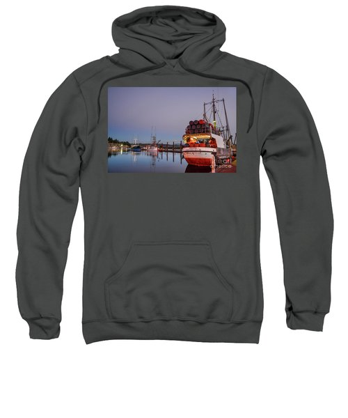 Fishing Boats Waking Up For The Day Sweatshirt