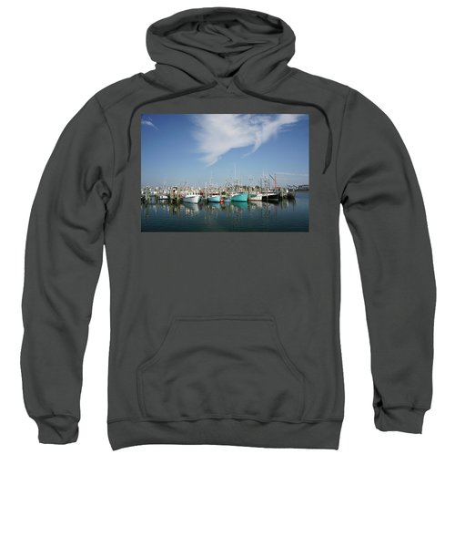 Fishing Vessels At Galilee Rhode Island Sweatshirt