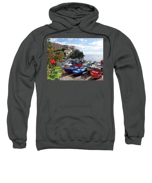 Fishing Village On The Island Of Madeira Sweatshirt