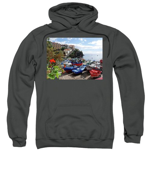 Fishing Village On The Island Of Madeira Sweatshirt