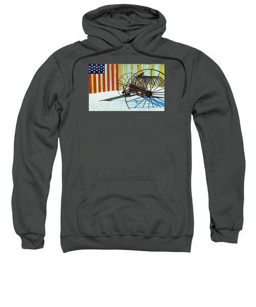 Flag And The Wheel Sweatshirt