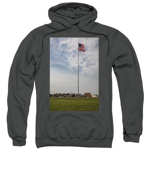 Flag Poll At Detroit Tiger Stadium  Sweatshirt