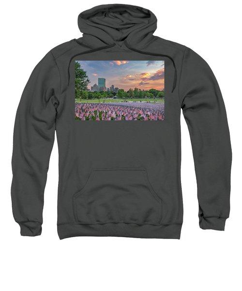 Flag Sunset On Boston Common Sweatshirt