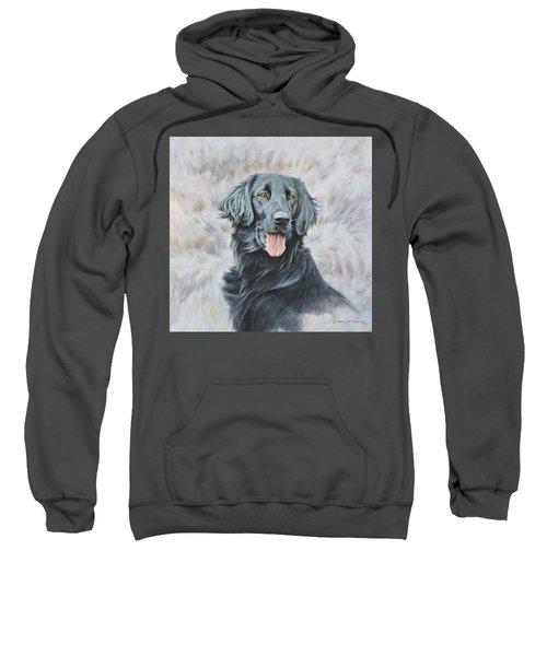 Flat Coated Retriever Portrait Sweatshirt