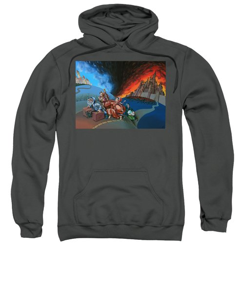 Flight Of Lot Out From Sodom Sweatshirt