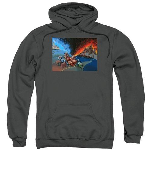 Flight Of Lot Out From Sodom Sweatshirt