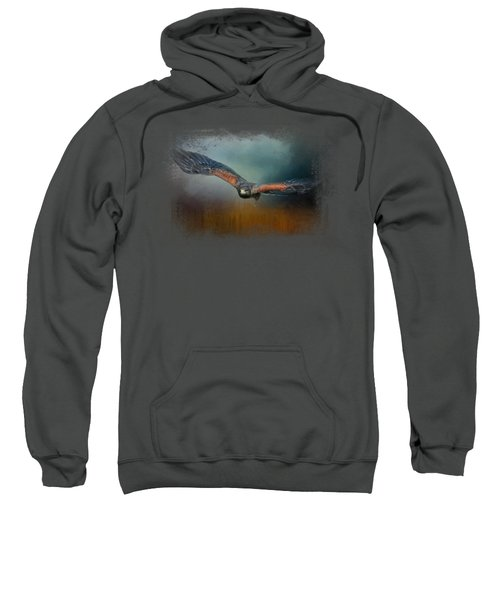 Flight Of The Harris Hawk Sweatshirt by Jai Johnson