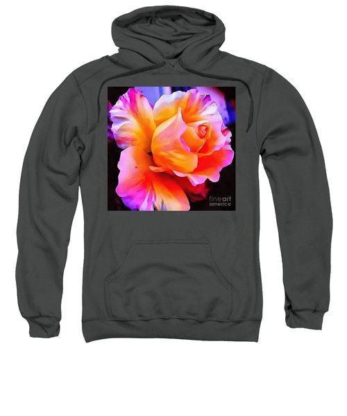 Floral Interior Design Thick Paint Sweatshirt
