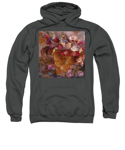Floral Still Life Pinks Sweatshirt