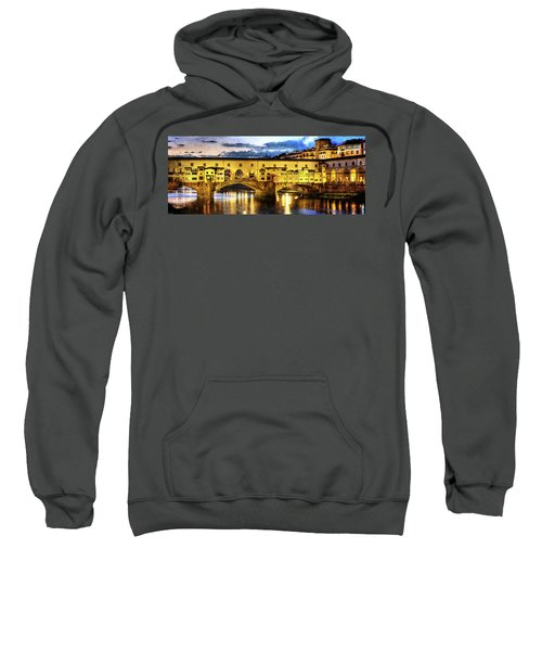Florence - Ponte Vecchio Sunset From The Oltrarno - Vintage Version Sweatshirt