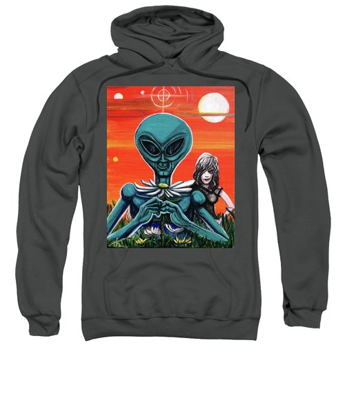Flower. Alien. Moon Sweatshirt
