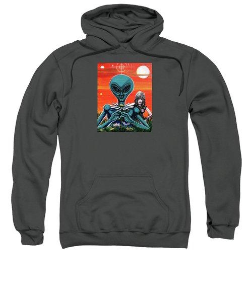 Flower. Alien. Moon Sweatshirt