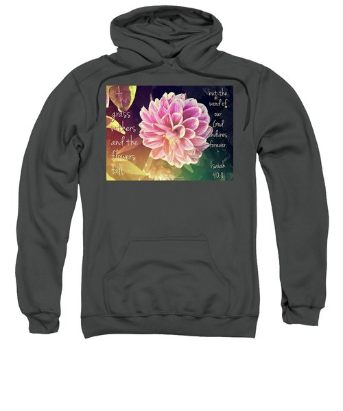 Flower With Scripture Sweatshirt