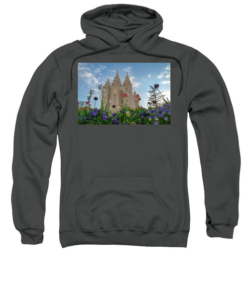 Flowers At Temple Square Sweatshirt
