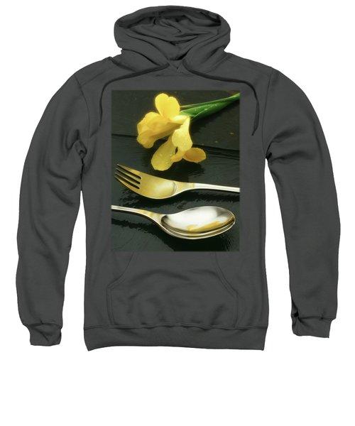Flowers On Slate Sweatshirt by Jon Delorme