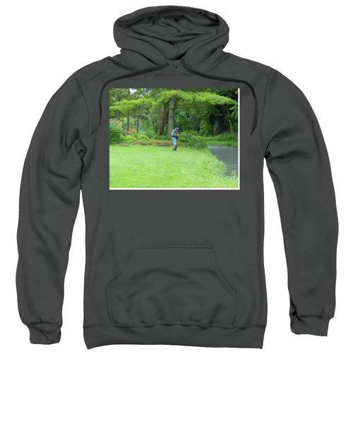 Fly Fishing On Trout Run Creek Sweatshirt