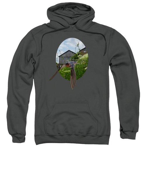 Flying Through The Farm Sweatshirt by Jan M Holden