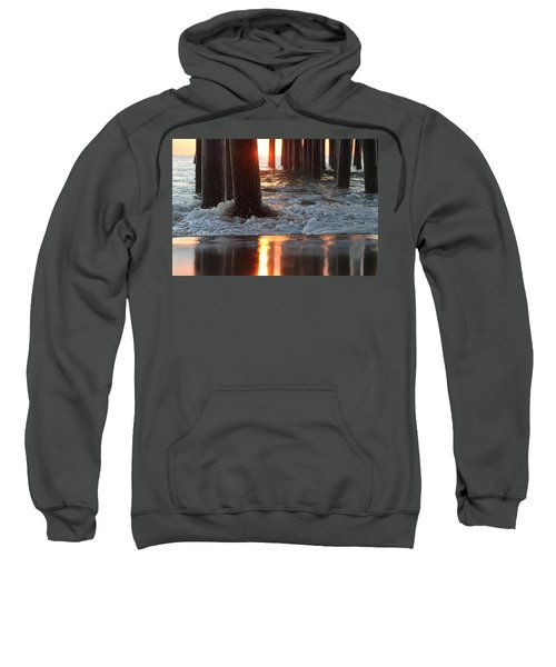 Foamy Waters Under The Pier Sweatshirt