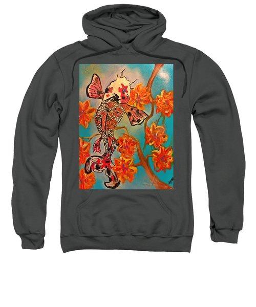 Focus Flower  Sweatshirt by Miriam Moran