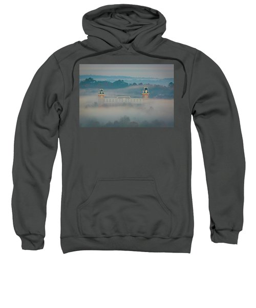 Fog At Old Main Sweatshirt by Damon Shaw