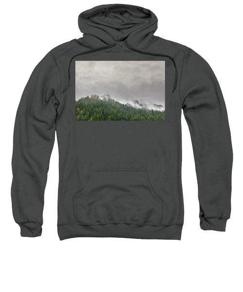 Fog Rolling Over Columbia River Gorge Sweatshirt
